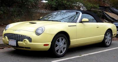 Yellow 2002-2005 Ford Thunderbird convertible