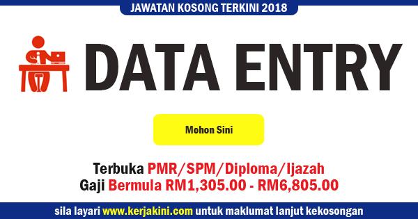 jawatan kosong data entry