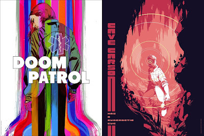 Thought Bubble 2017 Exclusive Young Animal Screen Print Series by Mondo x DC Comics - Doom Patrol by Tula Lotay & Cave Carson Has A Cybernetic Eye by Rosemary Valero-O'Connell