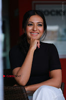 Actress Catherine Tresa Latest Stills in Black Top and White Pants  0013.JPG