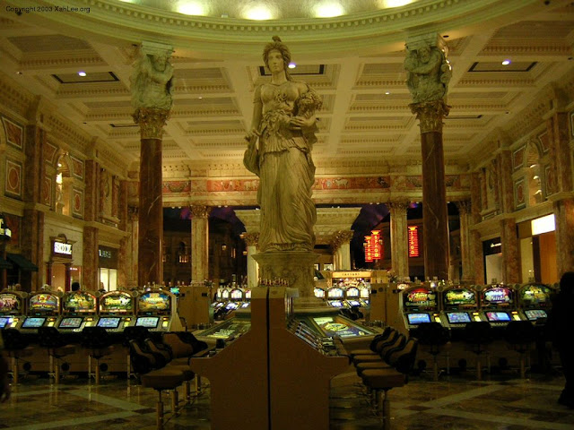 Fortuna statue at Caesar's Palace Casino, Las Vegas, Nevada, USA Photo Credit Xaa Lee