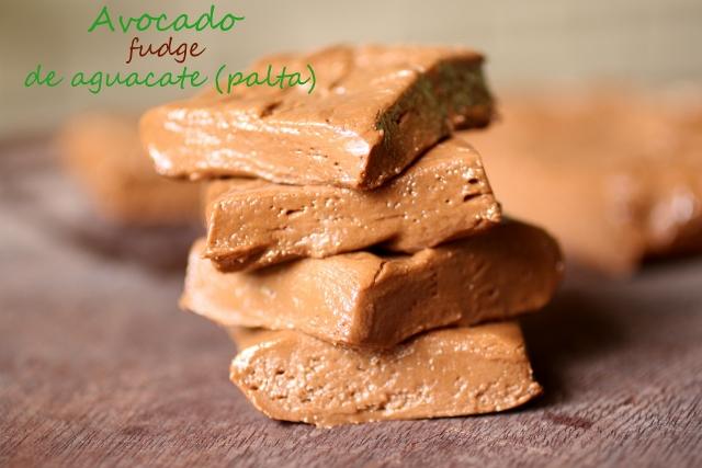Fudge de aguacate (palta) / Avocado fudge