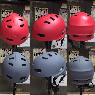 Helm Sepeda Mxl SK106 size 53-60cm Red Grey