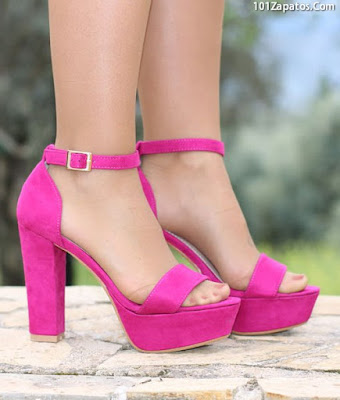Sandalias Color Fucsia