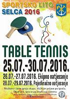Stolni tenis Sportsko lito Selca slike otok Brač Online