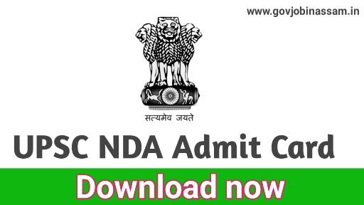 UPSC NDA Admit Card 2018,govjohinassam,upsc