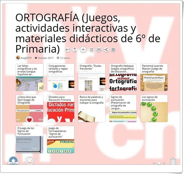 """""""12 Juegos, actividades interactivas y materiales didácticos para la práctica de LA ORTOGRAFÍA de 6º de Primaria"""""""