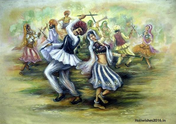 Holi festival 2016 painting