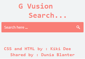 G Vusion Search