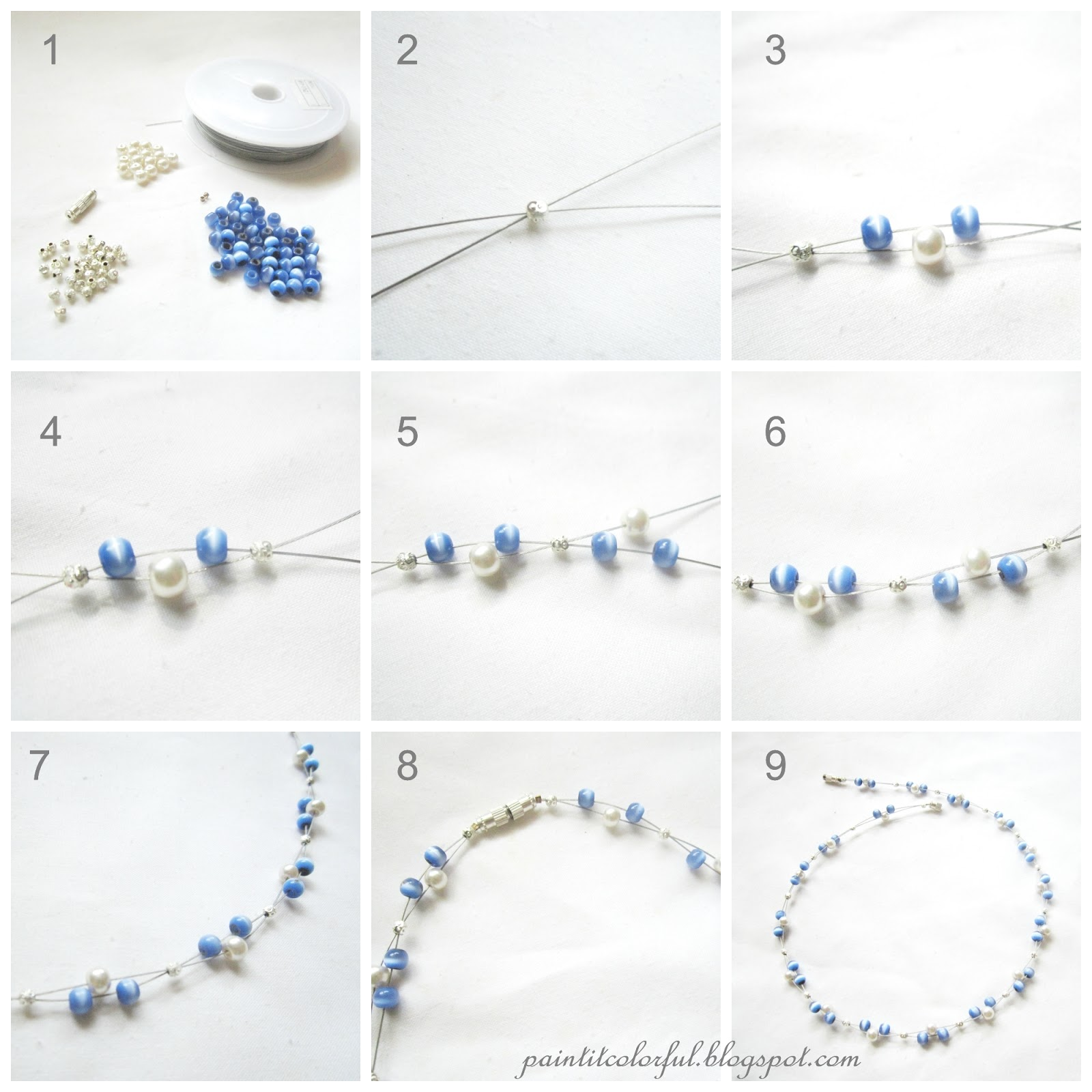Floating necklace tutorial - A little love everyday!