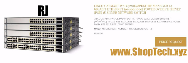 CISCO CATALYST WS-C3750E48PDSF-RF MANAGED L3 GIGABIT ETHERNET (10/100/1000) POWER OVER ETHERNET (POE)