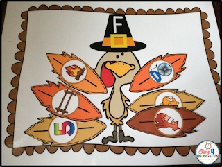 Thanksgiving centers for kindergarten phonemic awareness centers for November