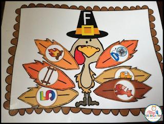 Thanksgiving centers for kindergarten phonemic awareness centers for November