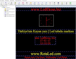 Kayan yazı tabela programı
