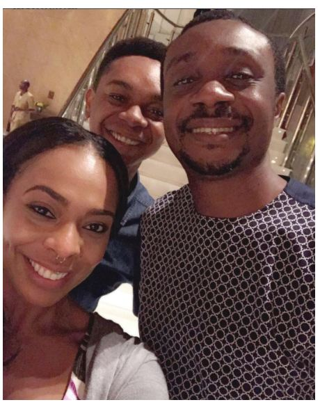 #BBNaija: TBoss and Miyonse pictured with Nathaniel Bassey