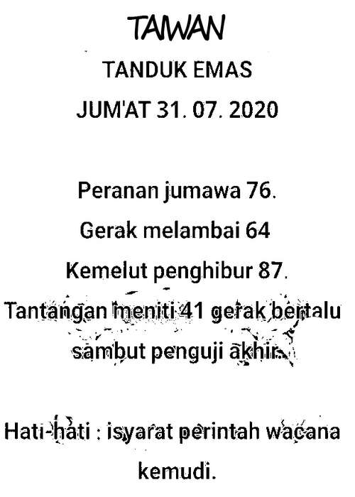 Kode syair Hongkong Jumat 31 Juli 2020 50
