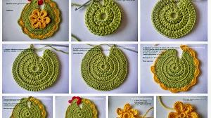 "Paso a paso Agarradera ""Gallinita"" tejida al Crochet"