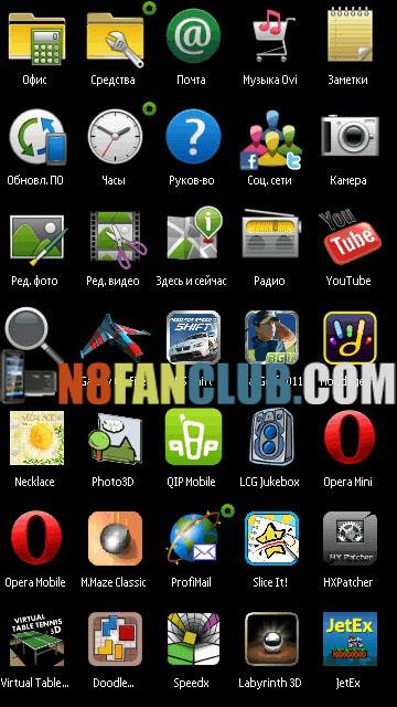 Full Screen Swipe Menu v2 Mod for Nokia N8 - Symbian^3