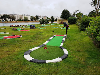 TT Putting Crazy Golf course at Mooragh Park in Ramsey, Isle of Man