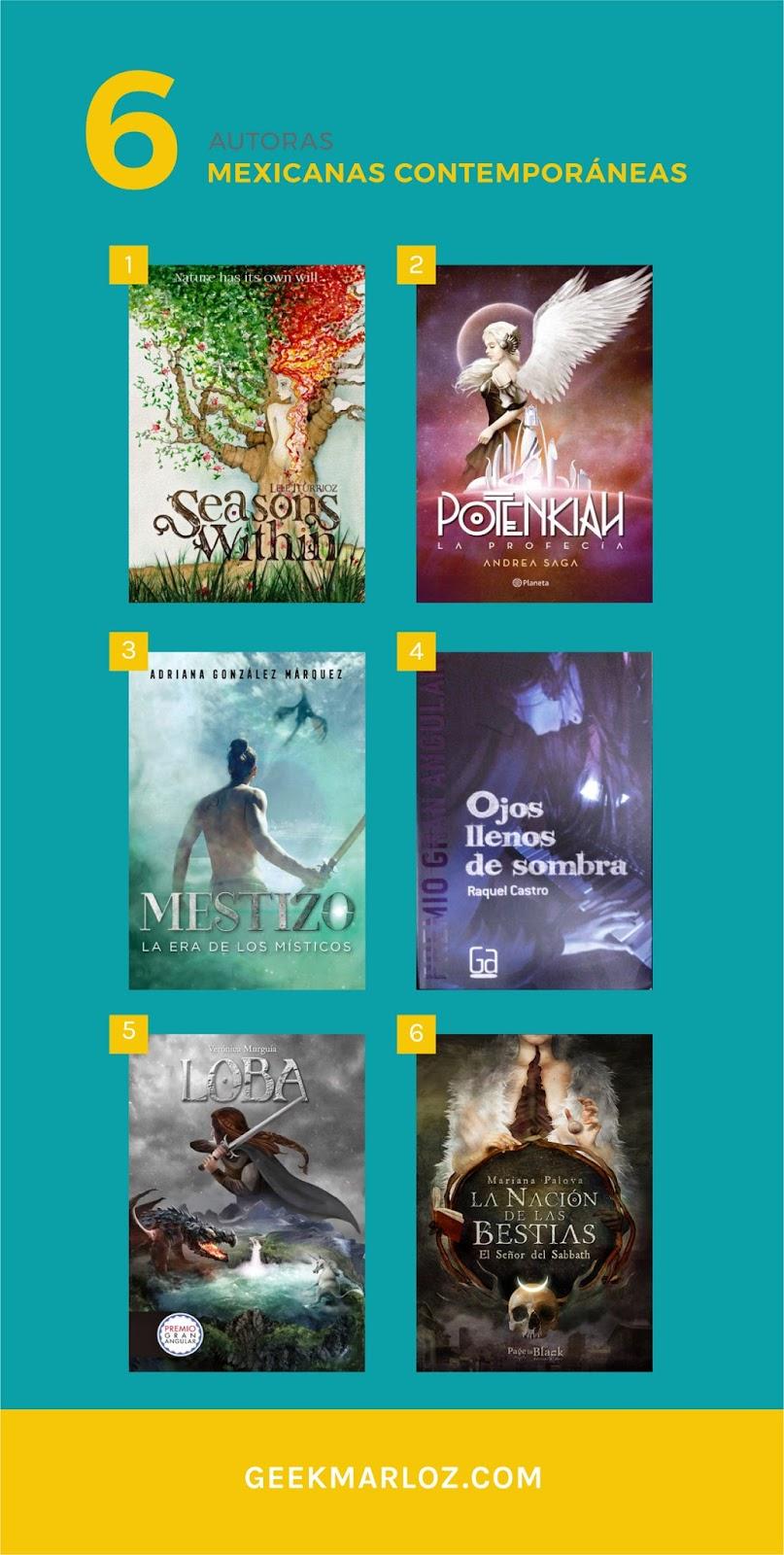 GeekMarloz| 6 escritoras mexicanas contemporáneas que debes conocer