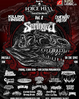 """EVENT PURWOKERTO: ROAD TO VOICE HELL """"End Of The World"""" VOL.2"""
