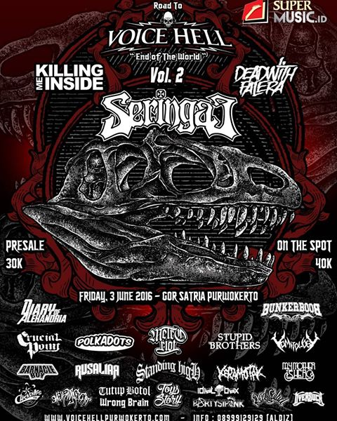 "EVENT PURWOKERTO: ROAD TO VOICE HELL ""End Of The World"" VOL.2"