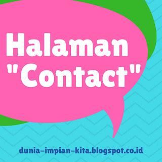Halaman Contact - Dunia Impian Kita