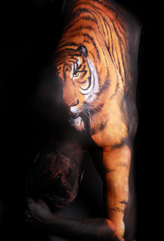 amazing-body-art Tiger