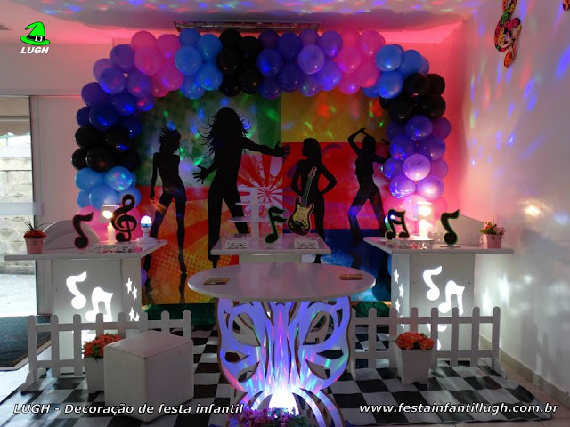 Decoração infantil tema Discoteca - festa de aniversário - Provençal