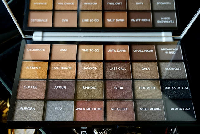 Life on the dancefloor Afterparty palette by makeup revolution pigment names