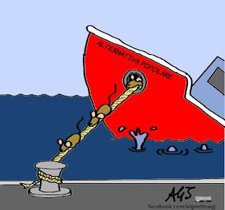 alternativa popolare, alfano, governo, cassano, dimissioni, politica, vignetta, satira