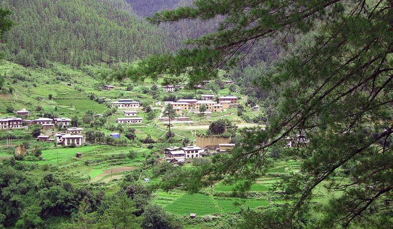 Gambar Rumah penduduk negara Bhutan