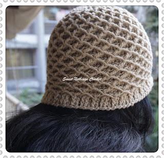 free crochet pattern, diamond beanie, honeycomb beanie, crochet beanie