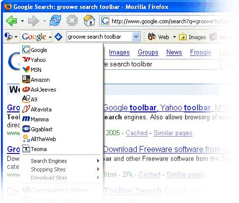 groowe search toolbar for mozilla firefox
