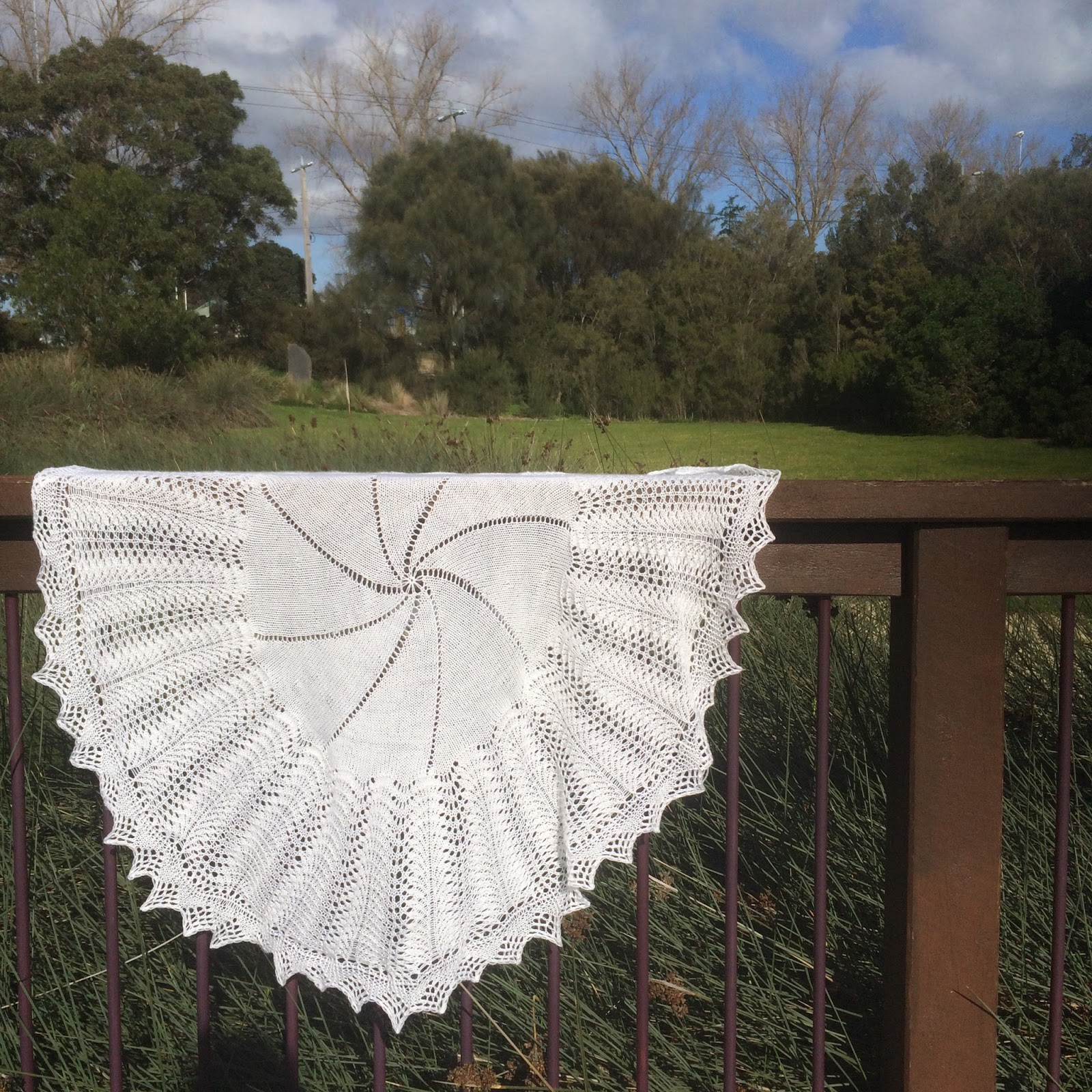 8388d503d All About My Cat  FO  Big Bad Bubbles Baby Shawl