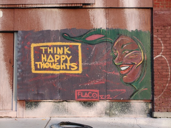 Detroit Mural Think Happy Thoughts