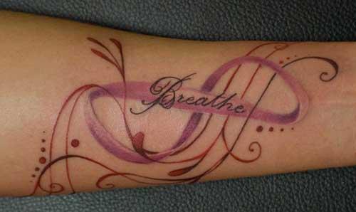 pink infinity tattoos