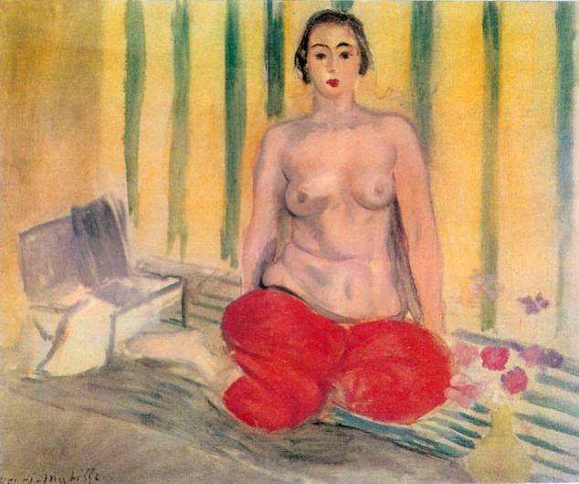"Henri Matisse ""Odaliska w czerwonych szarawarach"" (1925) Imber Contemporary Art Museum Caracas Venesuela"