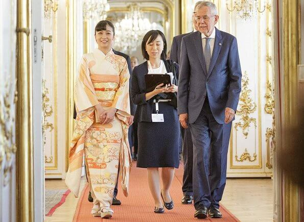 Japanese Princess Kako, niece of Emperor Naruhito, arrived in Vienna, the capital of Austria