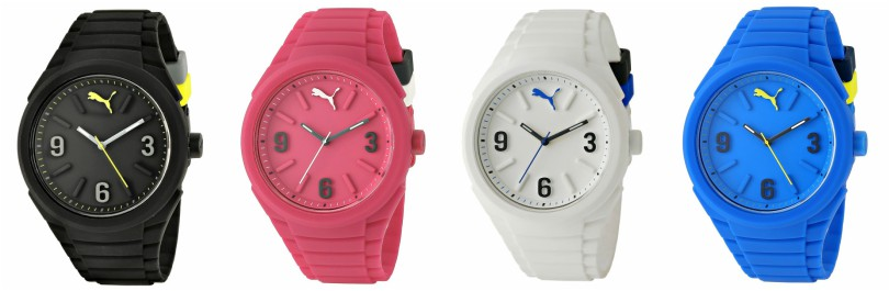 Puma Unisex Gummy Pop-Color Watch $40-$44 (reg $80)