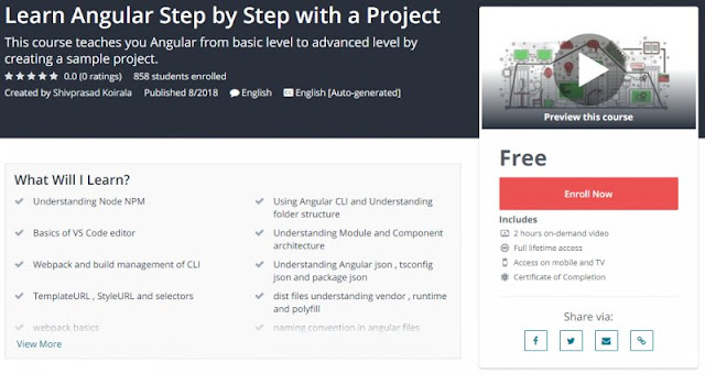 [100% Free] Learn Angular Step by Step with a Project
