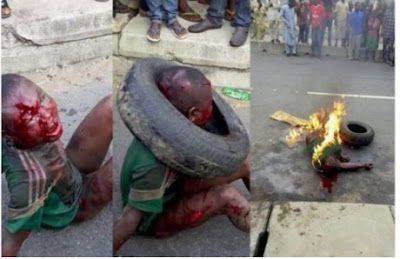 See The Teenage Boy Beaten & Burnt To Death in Lagos For Stealing… GRAPHIC VIDEO !!!