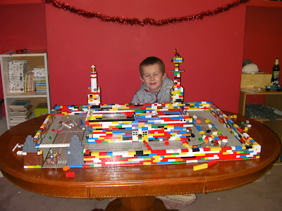 bespoke lego building table wooden dining table in bedroom