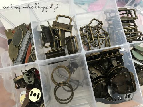 Craft room - arrumação de acessórios metálicos