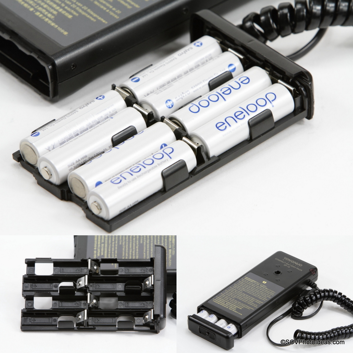 YongNuo SF-18 External Battery Tray filling sequence