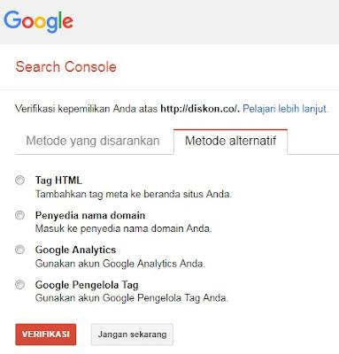 Metode Verifikasi Domain