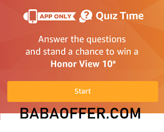 amazon quiz time answer and win honor view 10