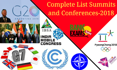 Complete List Summits and Conferences- 2018