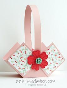 Stampin' Up! Flower Shop Spring Easter Basket Box -- VIDEO Tutorial www.juliedavison.com