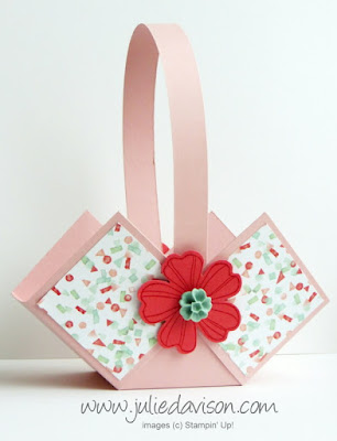 Stampin' Up! Flower Shop Spring Easter Basket Box -- VIDEO Tutorial www.juliedavison.com